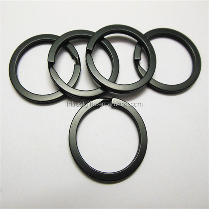 1 Inch/25mm Diameter Metal Flat Split Key Chains Rings for Home Car Keys Attachment