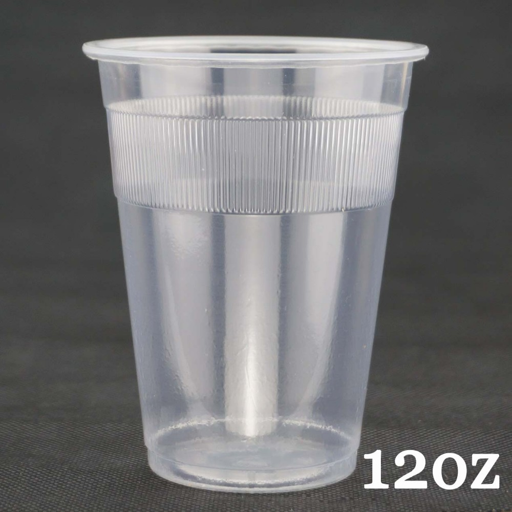 Vertical Lines Series 12oz Plastic Cups