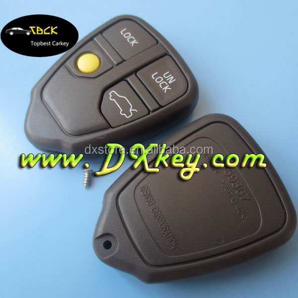 Excellent products for volvo key cover 4 button remote blank key fobs