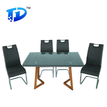 Tempered Glass Dining Table Fiber Dining Table Set Malaysia Dining Table Set  T 1038