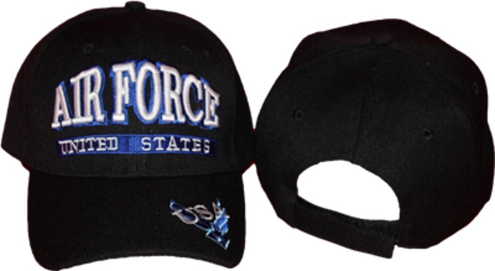 6a1d4094d9a Get Quotations · Airforce Air Force USA US Letters Baseball Cap Hat