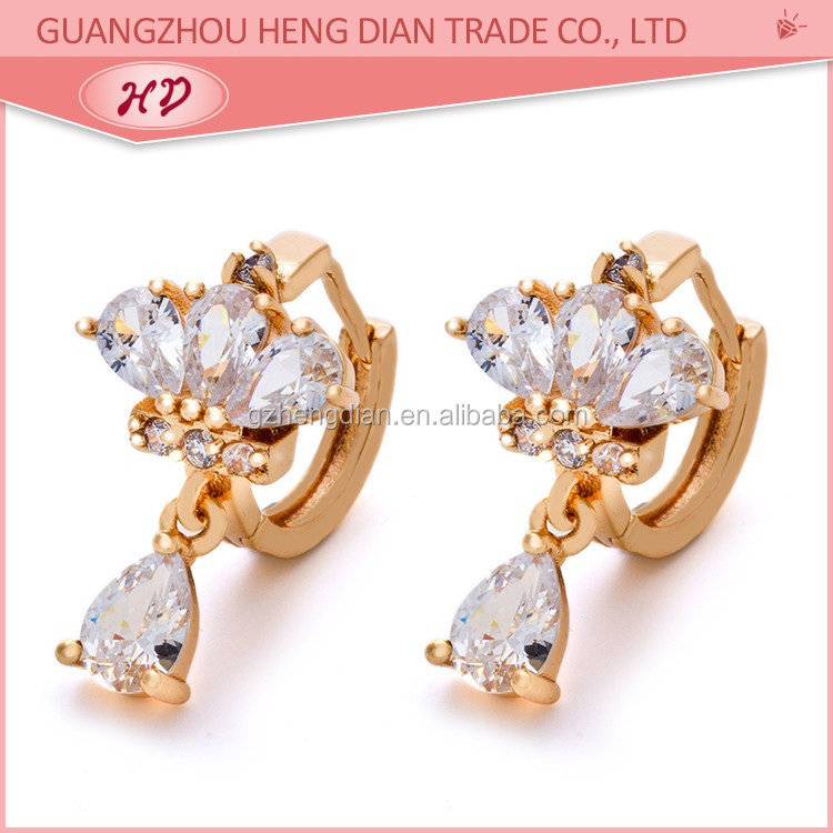 Free Shipping 18k Gold Plated Wholesale Small Gold Earrings Woman ...