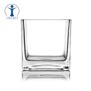 High Quality Factory Wedding Ceremony Tall Cylinder Crystal Glass