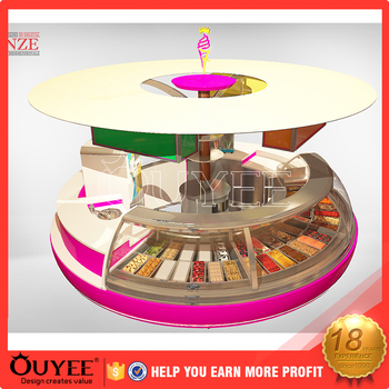 Modern Ice Cream Frozen Yogurt Topping Bar Plywood Bubble ...