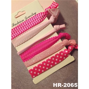 New products 2016 fashion hair accessories wholesale elastic lace knotted hair scrunchies custom hair ties