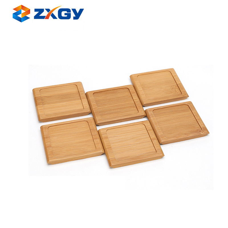 Natural Square Wooden Bamboo Coaster For Drink