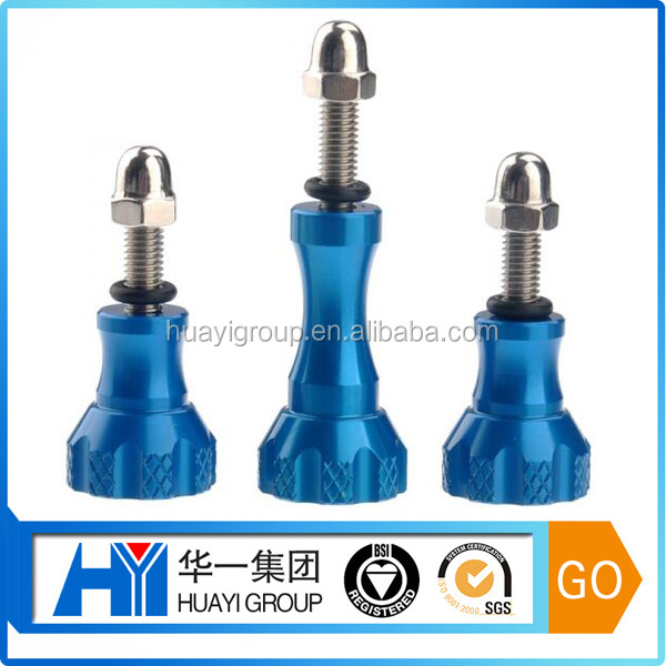 competitive price custom knurl blue anodized aluminium bolt and nut supplier
