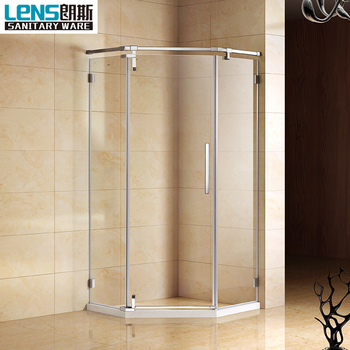 Philippines Hot Sales Simple Style Glass Showers Frameless Pivot ...