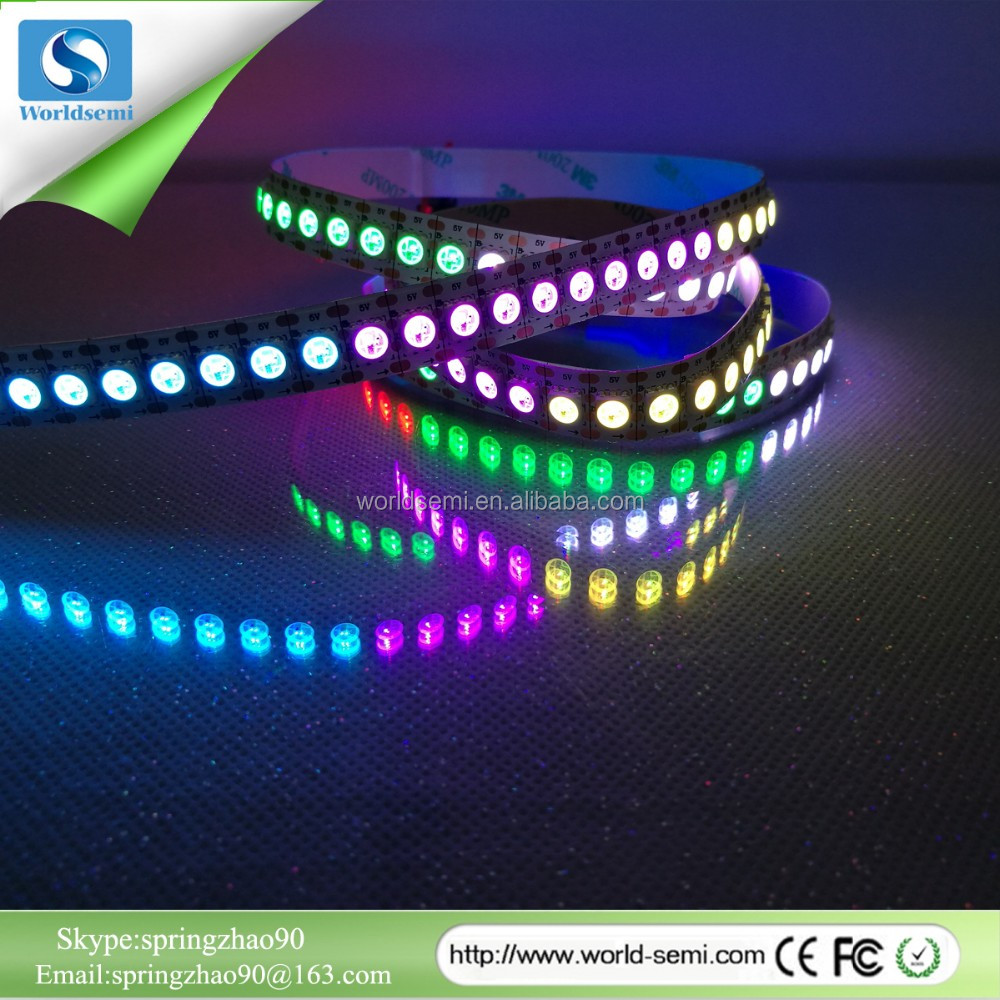 Hot selling SMD double row waterproof continuous length trimmable 5050 flexible led strip 144led/m yellow color