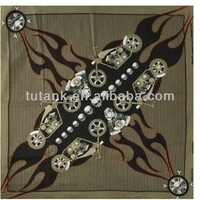 100 Percent Cotton V-Twin Crossbones Bandana
