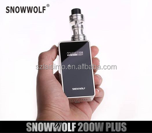 ecig vape 2017 new vape mod snow wolf 200w plus from e cigarette factory Laisimo wholesale price light up vaporizer ego ego