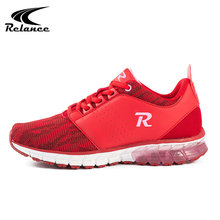 Custom red comfortable air style sport trail running athletic shoes