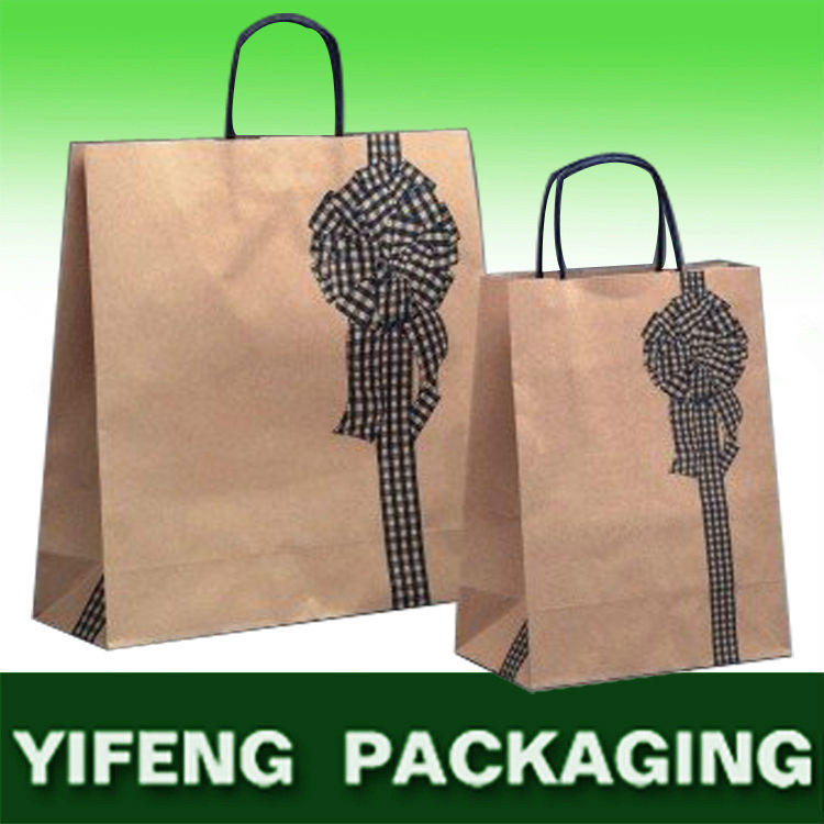 China manufacturer high end recycle kraft paper with satic handle gift paper bag