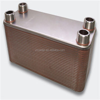 "40-Plate 4-1/4"" x 12"" Brazed Plate Heat Exchanger 1"" MPT Ports 316L Stainless Steel"