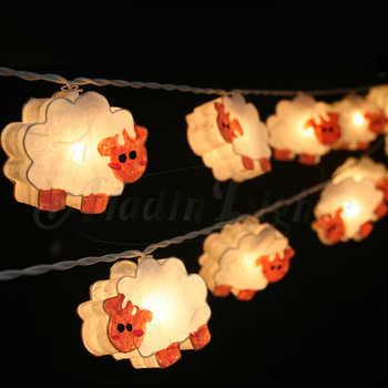 Paper Sheep Lamp 0266 Lanterns String Lights Fairy Handmade For Home Decoration