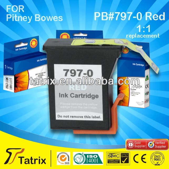 Use For DM50/DM55/K700/K780002/K721/RK721 Inkjet Printer Postage Meter Ink Red 797-0 For Pitney Bowes