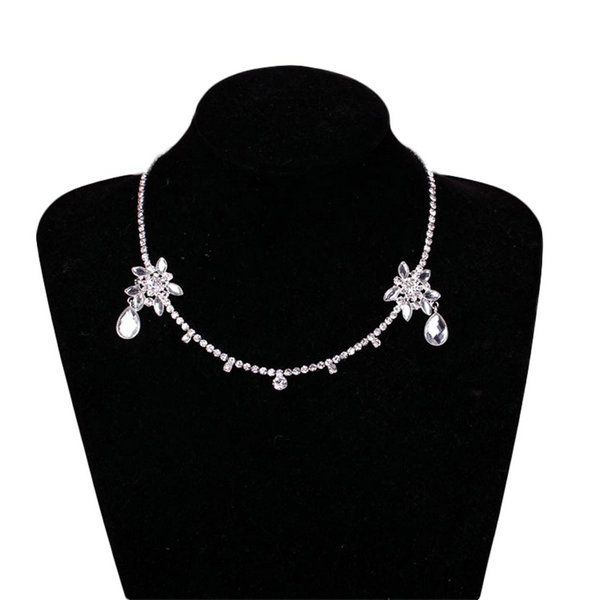 1pcs Famous Brand New Elegant Charming Tiara Crystal Rhineston Forehead Wedding Bride Hairband