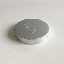 Customized embossed logo printing metal jar lids with shiny silver line