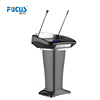 Smart Speech Podium/Digital Lectern/ Church Pulpit With Led Light&Goose neck Mic.