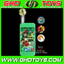 Candy music BEN10 light projector phone cheap small plastic candy sugar toys for sale for gift FOOD TEST