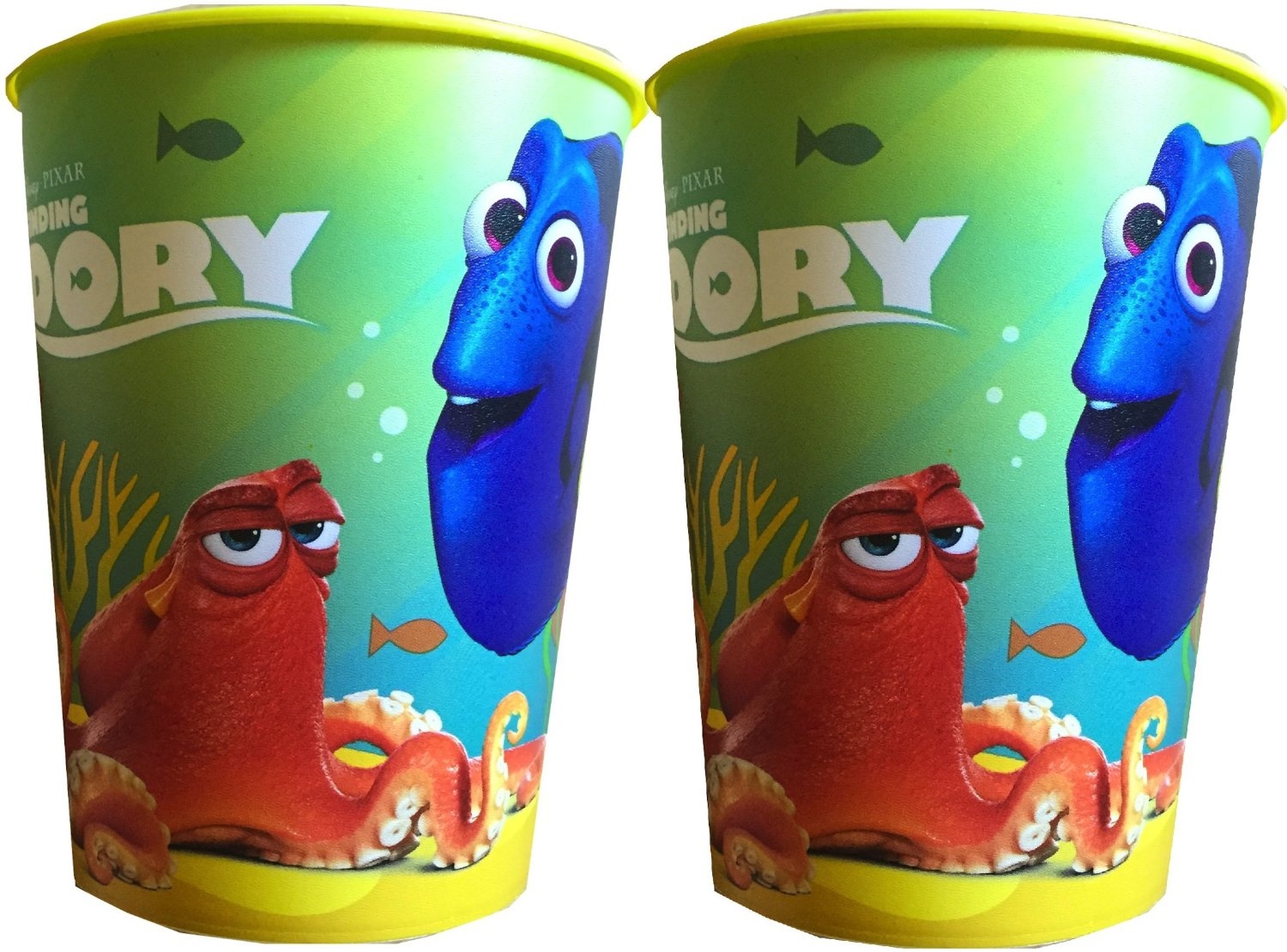 Disney Finding Dory Reusable Children's Party Favor Cups Pack Of 2/ 16 Oz