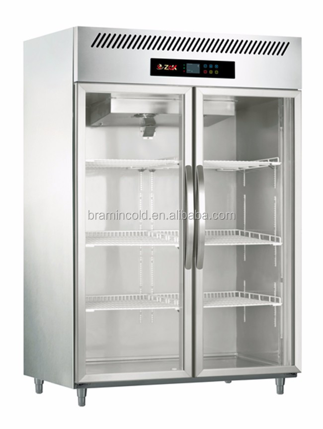Great Commercial Upright Kitchen Refrigerator/stainless Steel Vertical Freezer/  Glass Door Display Fridge For Meat Images