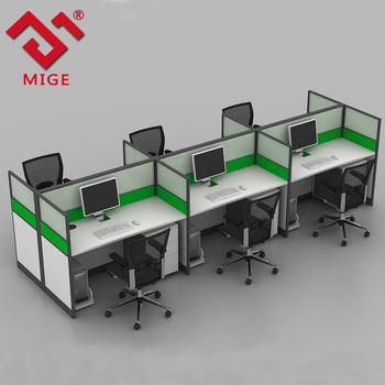 Modern Design Cubicle Office Workstation Aluminum Pariion Modular Furniture