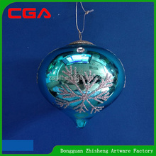 rain drop glass Christmas ball for tree decor