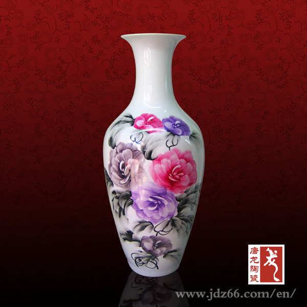 Chinese Decorative Flower Vase Painting Designs Clay - Buy Flower ...