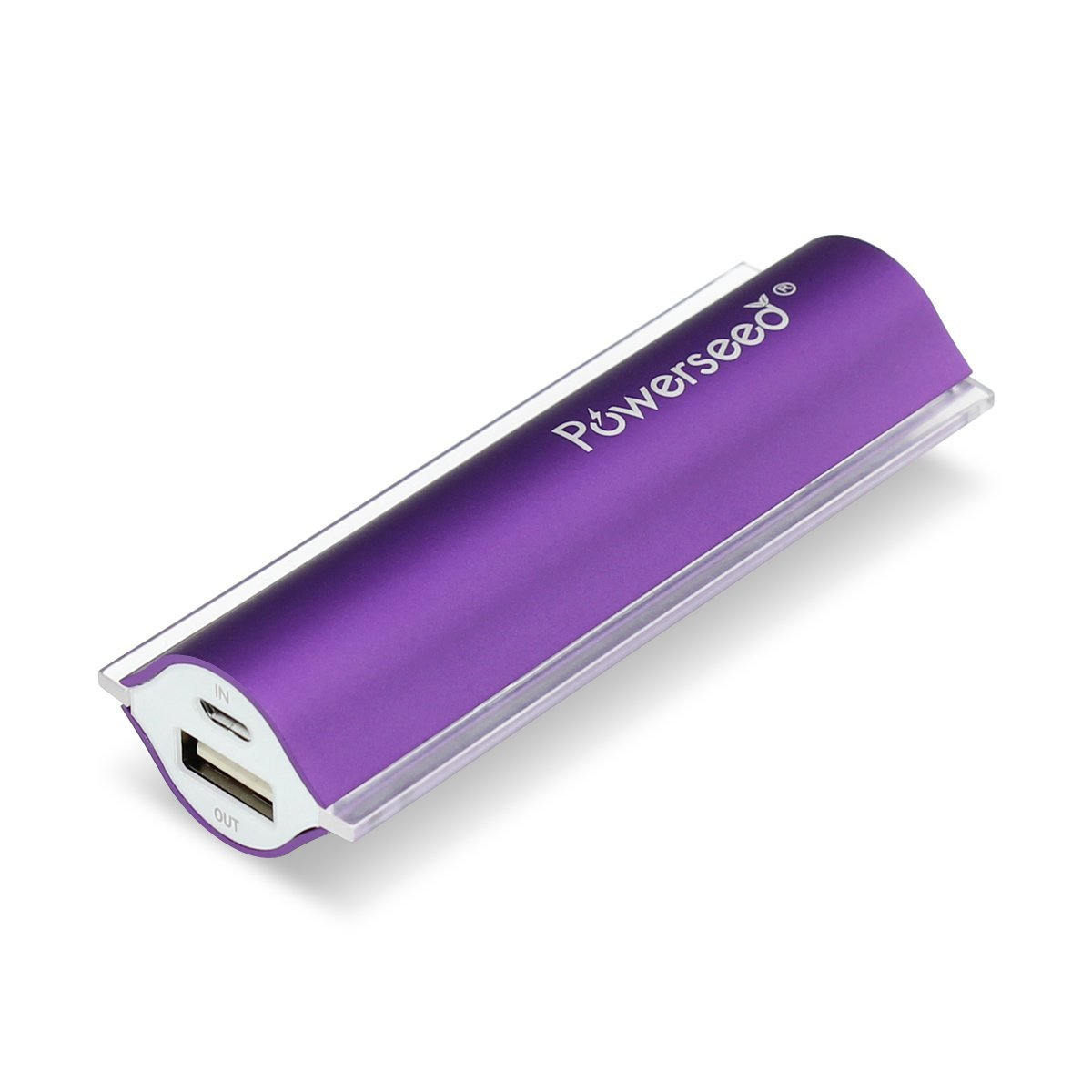 Powerseed Angel Eye PS2400 Purple Power Bank USB Portable Charger for Samsung Galaxy S6, S5, Samsung Gear, Note 4, Apple Watch, iPhone 4, iPhone 5, iPhone 5S, iPhone 5C, iPhone 6, iPhone 6 Plus, Android Phones, iPad, Android Tablet, Windows Tablet, Go Pro Hero Camera, PSP, Nintendo 3DS, Sony