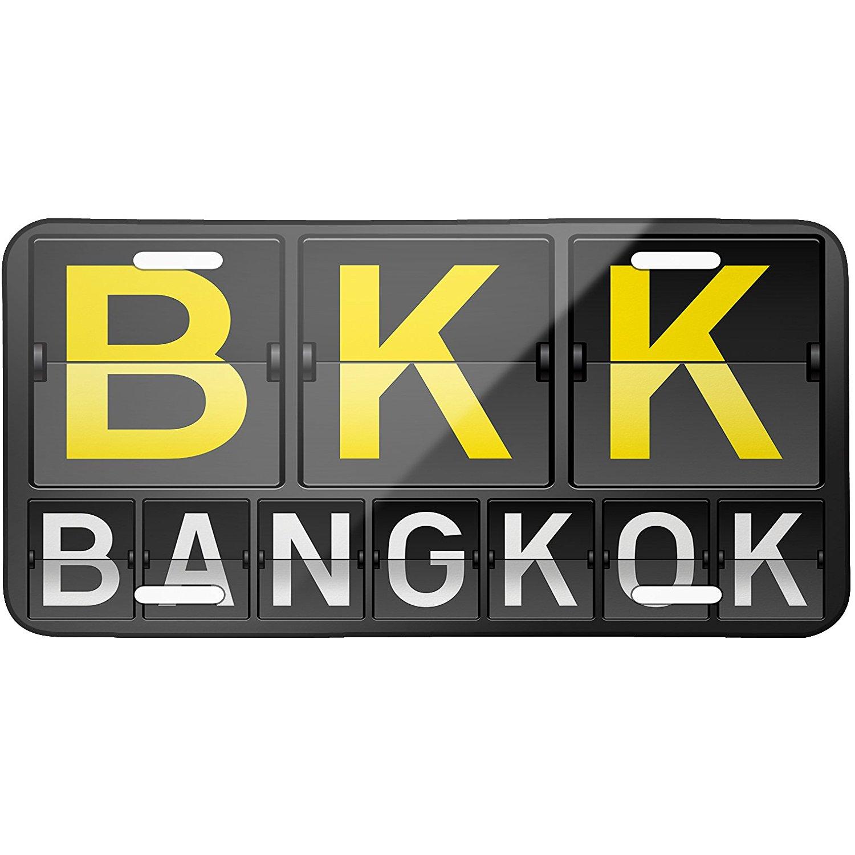 Metal License Plate BKK Airport Code for Bangkok - Neonblond
