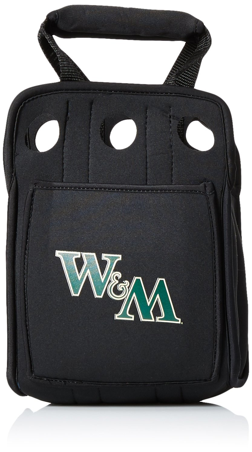 NCAA Six Pack Heavy Duty Cooler Color: Black, NCAA Team: William & Mary Tribe