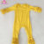 Girls boutique cotton long sleeve icing ruffle baby romper one piece jumpsuit girls mustard icing romper