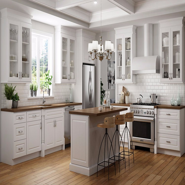 Ce Good Quality Glass White Ash Kitchen Cabinet Doors ...