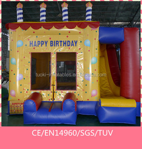 4x4x4M inflatable mini cake combo jumper bouncer