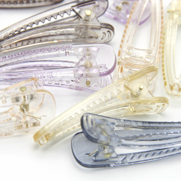 Wholesale Korean Style Clear Plastic Duckbill Teeth Alligator Hair Clip Barrettes 86877