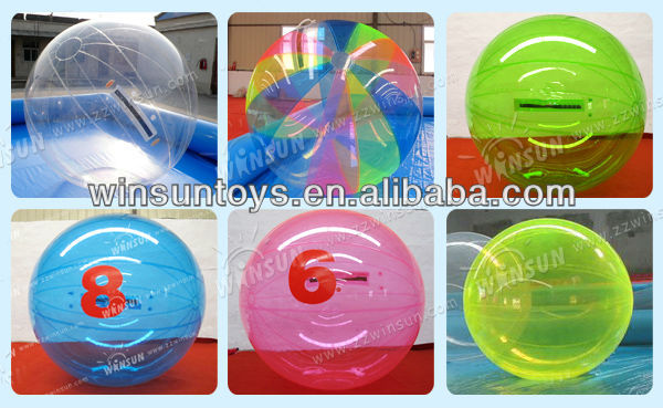 high quality human hamster walking water ball/inflatable soccer water ball human inside rolling game