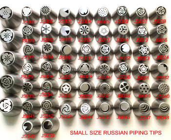 Small Size Russian Piping Tips Set 304 Stainless Deluxe