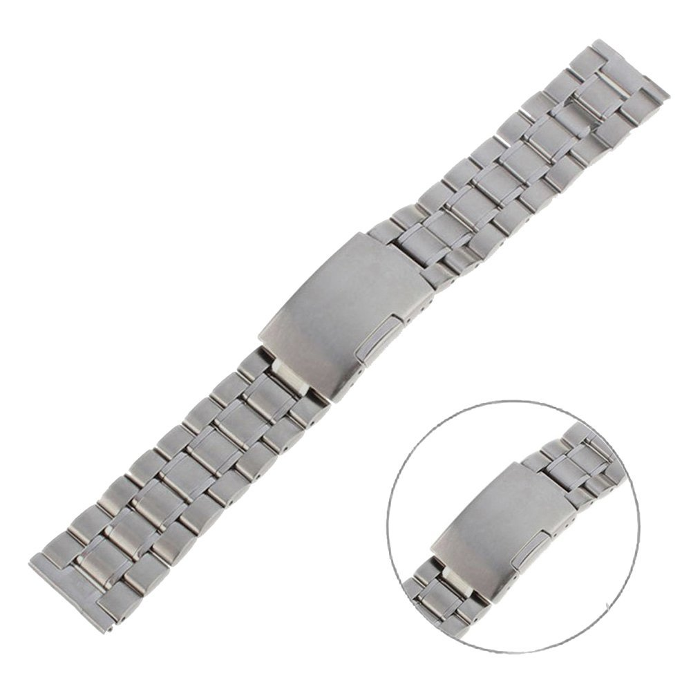 Huawei Watch Replacement Band , EXMART Solid Stainless Steel Watch Band Watch Strap for Huawei Smart Watch (Silver)