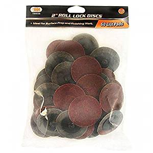 "Iit 82038 2"" Roll Lock 60 Grit Sanding Discs;(50 Pc); New; Free Shipping"