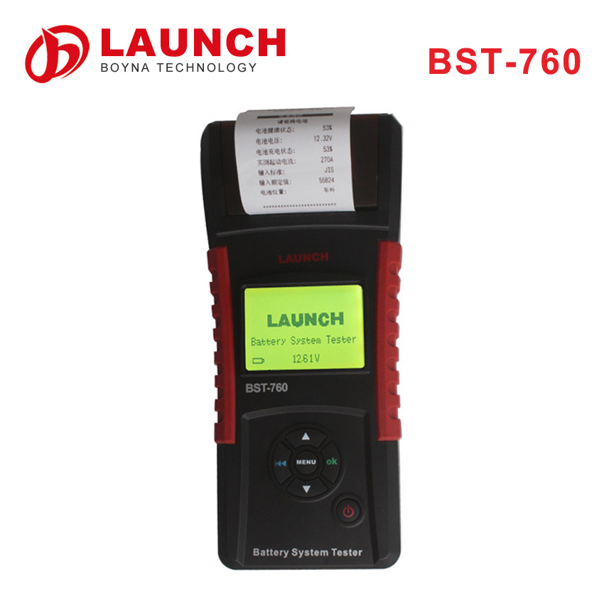 2016 New released Original LAUNCH BST-760 with high speed thermal printer car battery tester