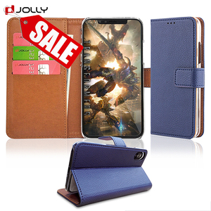 Anti Radiation Jolly Custom Flip Pu Leather Mobile Phone Case,Luxury Leather Cover Wallet Phone Case For Iphone X Case