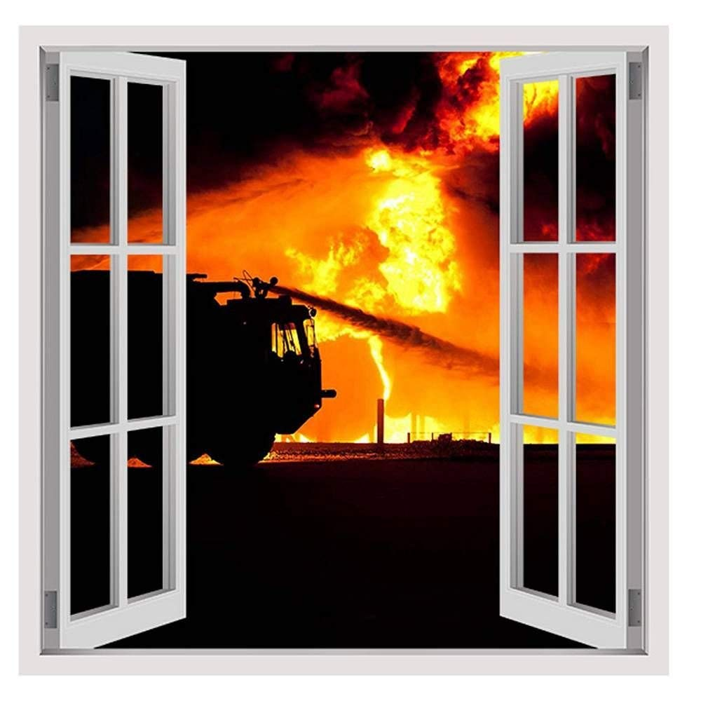 """Dangerous Fire by Fake 3D Window 