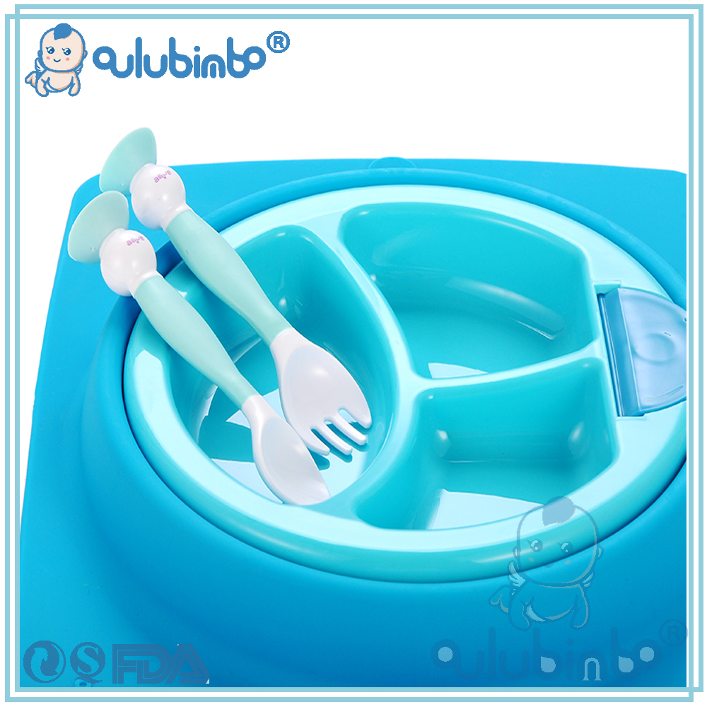 OEM Service colorful silicone PPSU baby plate