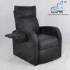 Black facial massage spa salon sling single sofa bed with fold-away arm rest