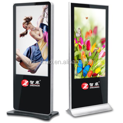 42 inch stand alone led display advertising vertical digital signage with touch screen kiosk