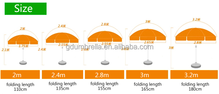 professional advertising promotional windproof custom outdoor beach umbrellas wholesale