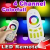 2.4G Group Division Wireless Dimmable RGB LED Remote Controller for LED Bulbs Light Lamp Brightness Color Temperature Adjustable