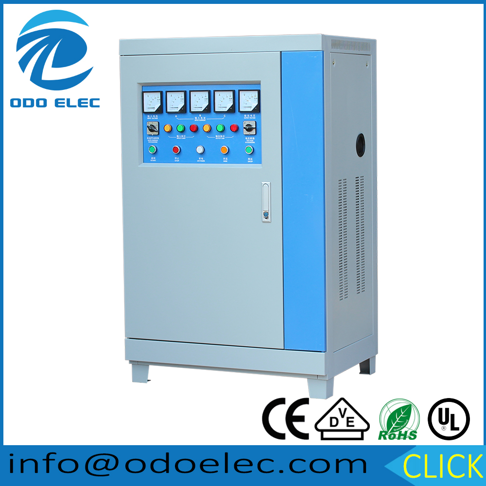 Three Phase SBW 50KVA Full Automatic AC Motor Control LCD Display Voltage and Frequency Stabilizer for Hotel