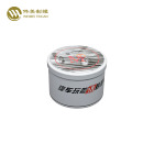 Factory supply tea packaging candle custom printed gift round metal tin box